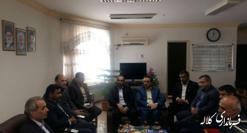 دیدار مدیرکل غله استان با فرماندار کلاله