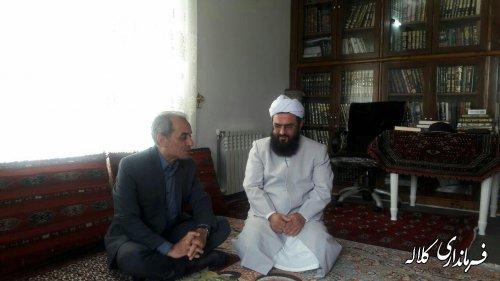 دیدار فرماندار کلاله با امام جمعه اهل سنت روستای اورجنلی