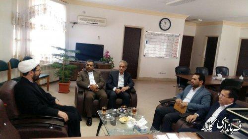 دیدار رییس دانشگاه مذاهب اسلامی گنبدکاووس با فرماندار کلاله