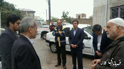 بازدید میدانی فرماندار شهرستان کلاله از ساختمان در حال احداث جامعه القرآن الکریم کلاله