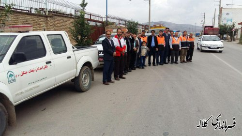 رژه خودرویی در شهرستان کلاله برگزار شد