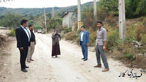 مسائل و مشکلات روستاهای سوار پایین و وسط در بازدید بخشدار پیشکمر پیگیری شد