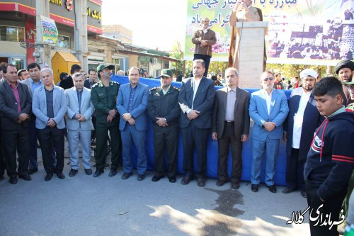راهپیمایی استکبار ستیزی ۱۳ آبان با شکوه هر چه تمام در شهرستان کلاله برگزار شد
