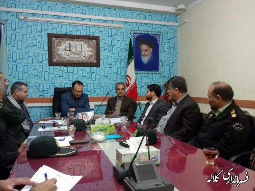 اولین جلسه ستاد رسیدگی به جرائم و تخلفات انتخابات کلاله برگزار شد