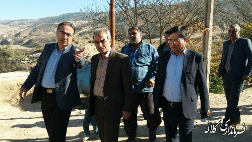 بازدید میدانی  فرماندار کلاله از روستاهای قیراق داشلی و سایت جدید قودنه سفلی