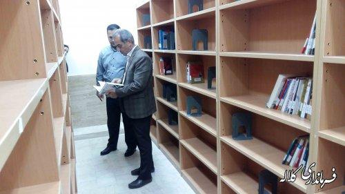 بازدید فرماندار کلاله از کتابخانه عمومی شهرستان