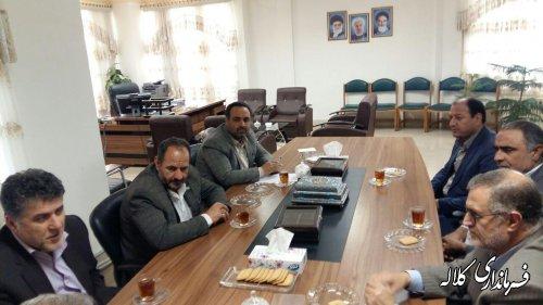 نشست رییس و اعضاء هیات نظارت بر انتخابات شهرستان کلاله با فرماندار شهرستان