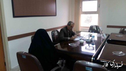 ملاقات عمومی فرماندار شهرستان کلاله با مردم برگزار شد