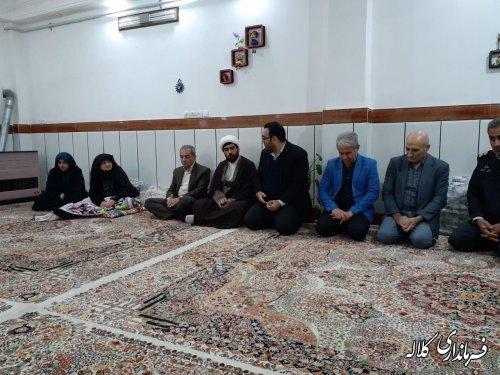 دیدار فرماندار شهرستان کلاله با خانواده شهید امیری در شهر کلاله