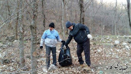 طرح پاکسازی جنگل گلستان از پسماند و زباله با حضور مسئولین اجرا شد