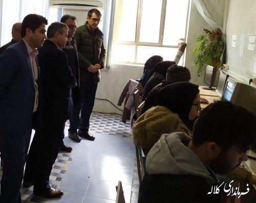 بازدید دبیر ستاد انتخابات شهرستان کلاله از برگزاری آزمون کاربران رایانه  انتخابات