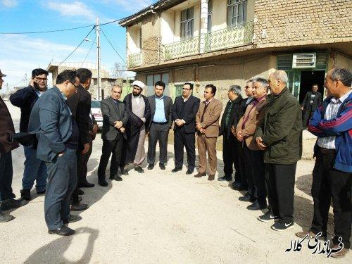 پروژه زیرسازی و آسفالت 3 روستای بخش مرکزی کلاله به بهره برداری رسید