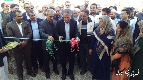 یک واحد  منزل مسکونی روستایی سیل زده در روستای یکه قوز کلاله افتتاح شد