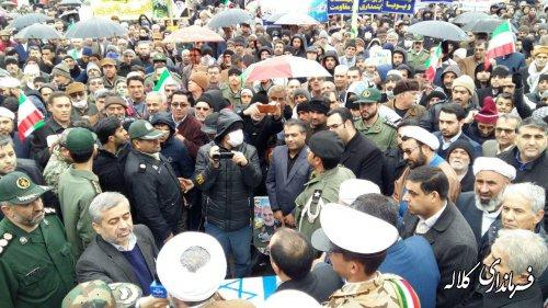 حضور مردم با بصیرت شهرستان کلاله در راهپیمایی 22 بهمن امسال تماشایی بود