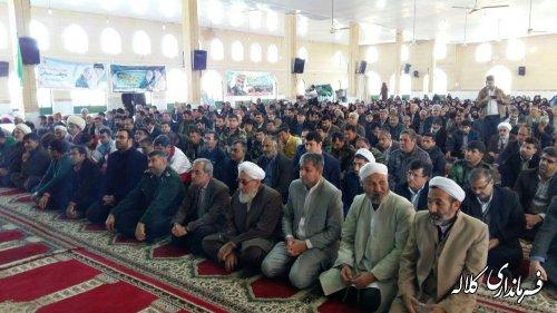 مراسم بزرگداشت چهلمین روز شهادت سپهبد حاج قاسم سلیمانی در کلاله برگزار شد