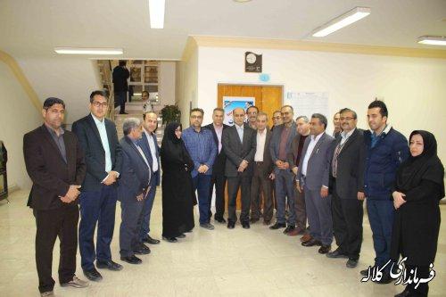 بازدید دکتر حق شناس استاندار گلستان از ستاد  انتخابات شهرستان کلاله