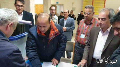 فرایند تحویل صندوقهای اخذ رأی در شعب کلاله انجام شد