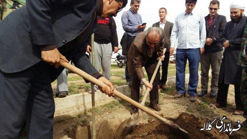 ۴۵۰ اصله نهال در روستای مالای شیخ گینگ لیک غرس شد
