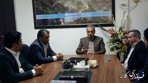 دیدار جمعی از مهندسین نظام مهندسی کلاله با فرماندار شهرستان بمناسبت روز مهندس