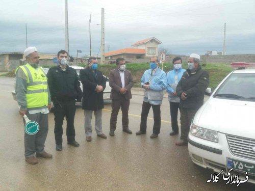 بازدید فرماندار کلاله از اجرای طرح فاصله گذاری اجتماعی و کنترل تردد
