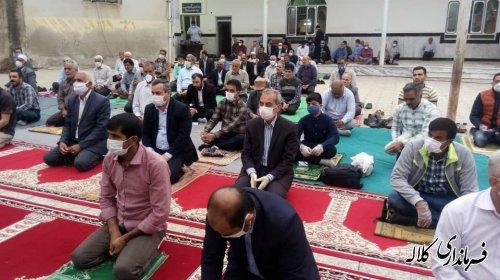 برپایی نماز عید فطر با رعایت پروتکلهای بهداشتی در کلاله