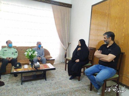 دیدار فرماندار شهرستان کلاله با مادر شهید میر عرب