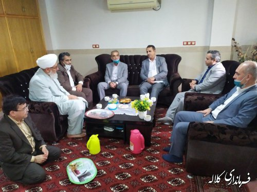 دیدار فرماندار کلاله و مدیرکل سیاسی، انتخابات استان با ائمه جمعه اهل سنت