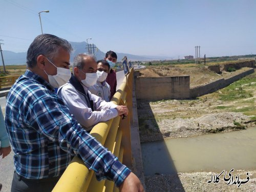 بازدید فرماندار کلاله از روند اجرای پروژه رودخانه دوغ