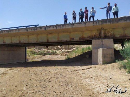 بازدید میدانی فرماندار کلاله از بازسازی و مرمت پل های سطح شهرستان