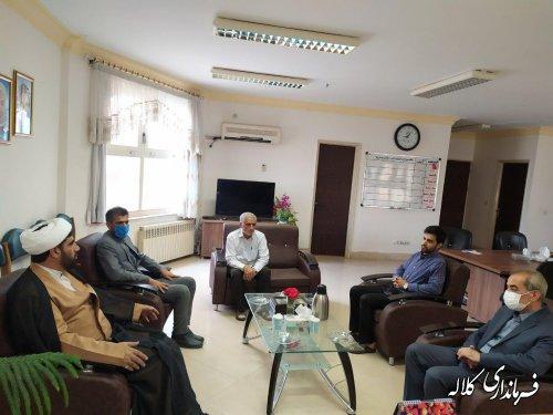 دیدار رییس تبلیغات اسلامی کلاله با فرماندار شهرستان