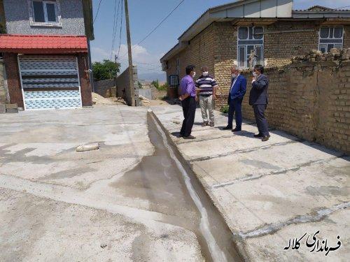 بازدید فرماندار کلاله از روند اجرای پروژه های عمرانی روستای بربرقلعه