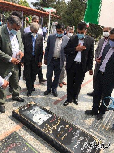 ادای احترام فرماندار جدید کلاله به مقام شامخ شهدا