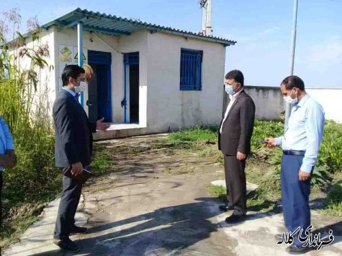 بازدید میدانی فرماندار کلاله از مجتمع ابرسانی روستاهای بخش مرکزی