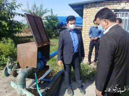 بازدید فرماندار کلاله از مجتمع آبرسانی روستاهای بخش مرکزی
