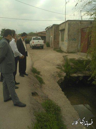 بازدید سرپرست فرمانداری کلاله از روند احداث کانال بتنی انتقال آب روستای ۱۷ شهریور