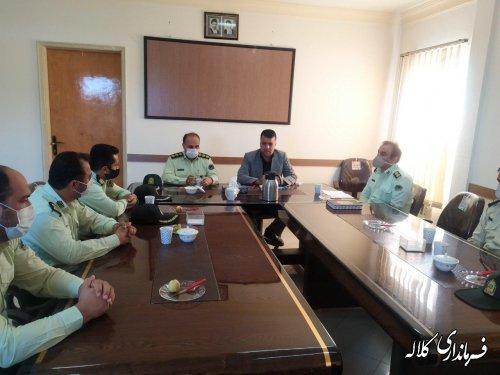 دیدار فرماندهی و جمعی از پرسنل نیروی انتظامی کلاله با فرماندار شهرستان