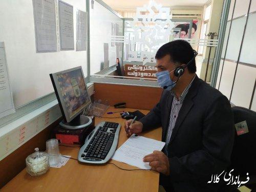 حضور سرپرست فرمانداری کلاله در مرکز سامد بمنظور پاسخگویی به شهروندان
