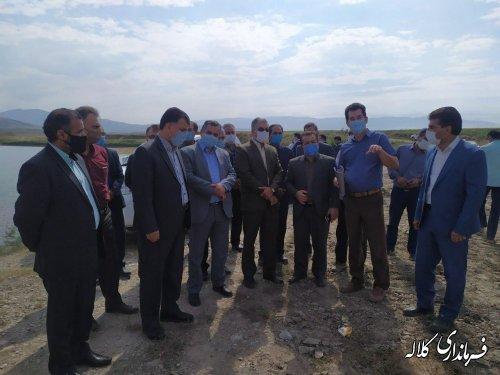 بازدید سرپرست فرمانداری کلاله از روند مرمت و بهسازی آب بندان چمران