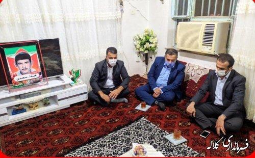 دیدار سرپرست فرمانداری کلاله با خانواده شهید سعدی