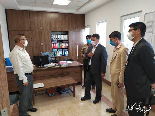 بازدید سرزده سرپرست فرمانداری کلاله از بنیاد مسکن انقلاب اسلامی شهرستان
