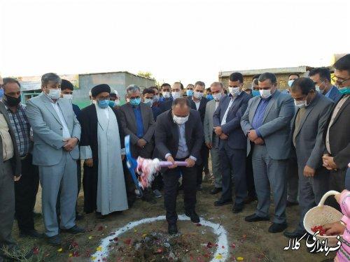 کلنگ احداث مدرسه ۶ کلاسه در روستای کاظم خوجه به زمین زده شد