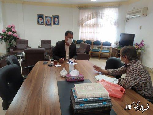ملاقات عمومی سرپرست فرمانداری شهرستان کلاله با مردم برگزار شد