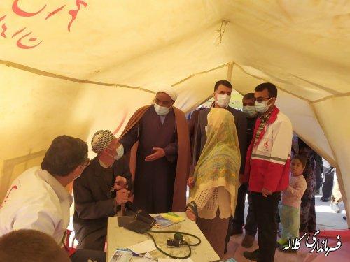 220 نفر در روستای اقچی کوچک کلاله ویزیت رایگان شدند
