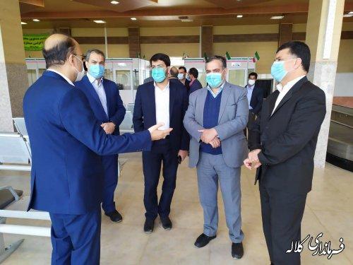 بازدید فرماندار کلاله و مشاور رییس مجلس شورای اسلامی از فرودگاه کلاله