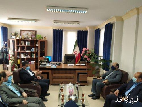 دیدار مدیرعامل آب منطقه ای استان با فرماندار کلاله