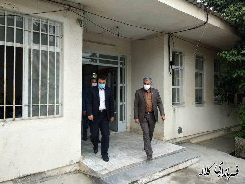 بازدید فرماندار کلاله از محل ثبت نام داوطلبان عضویت در انتخابات شورای اسلامی روستا