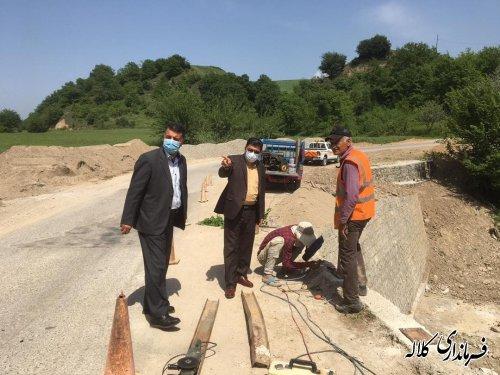بازدید فرماندار کلاله از وضعیت راههای شهرستان