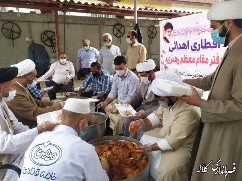 توزیع 2000 پرس غذای گرم اهدایی رهبر معظم انقلاب بین نیازمندان کلاله