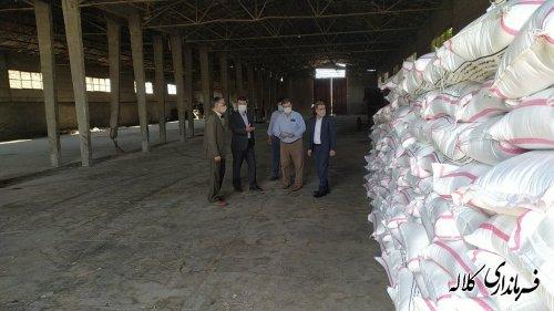 بازدید فرماندار کلاله از مراکز خرید کلزا در شهرستان