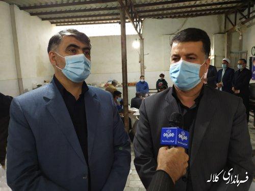 50 هزار پرس غذای گرم در شهرستان کلاله توزیع شد